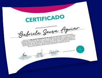 ilustração do certificado do curso